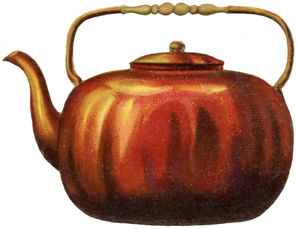 Looking For Teapots Vintage Copper Teapot Image The Graphics Fairy