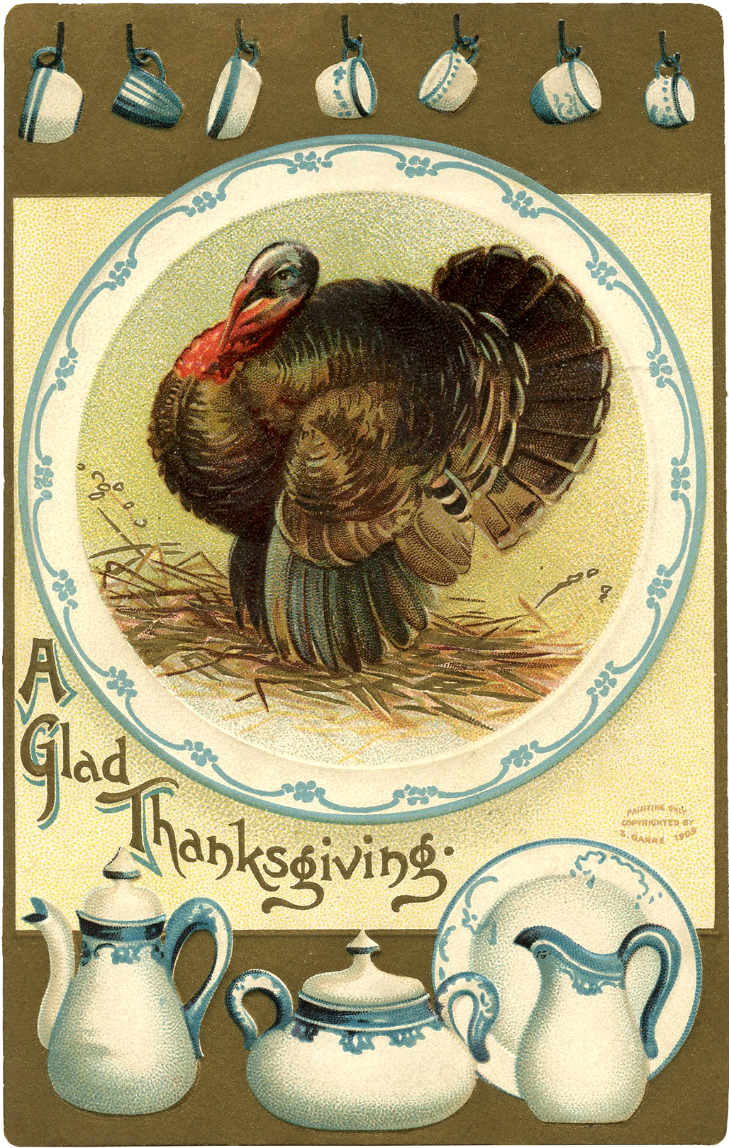 Fall Blessings Wallpaper Vintage Thanksgiving Turkey Image The Graphics Fairy