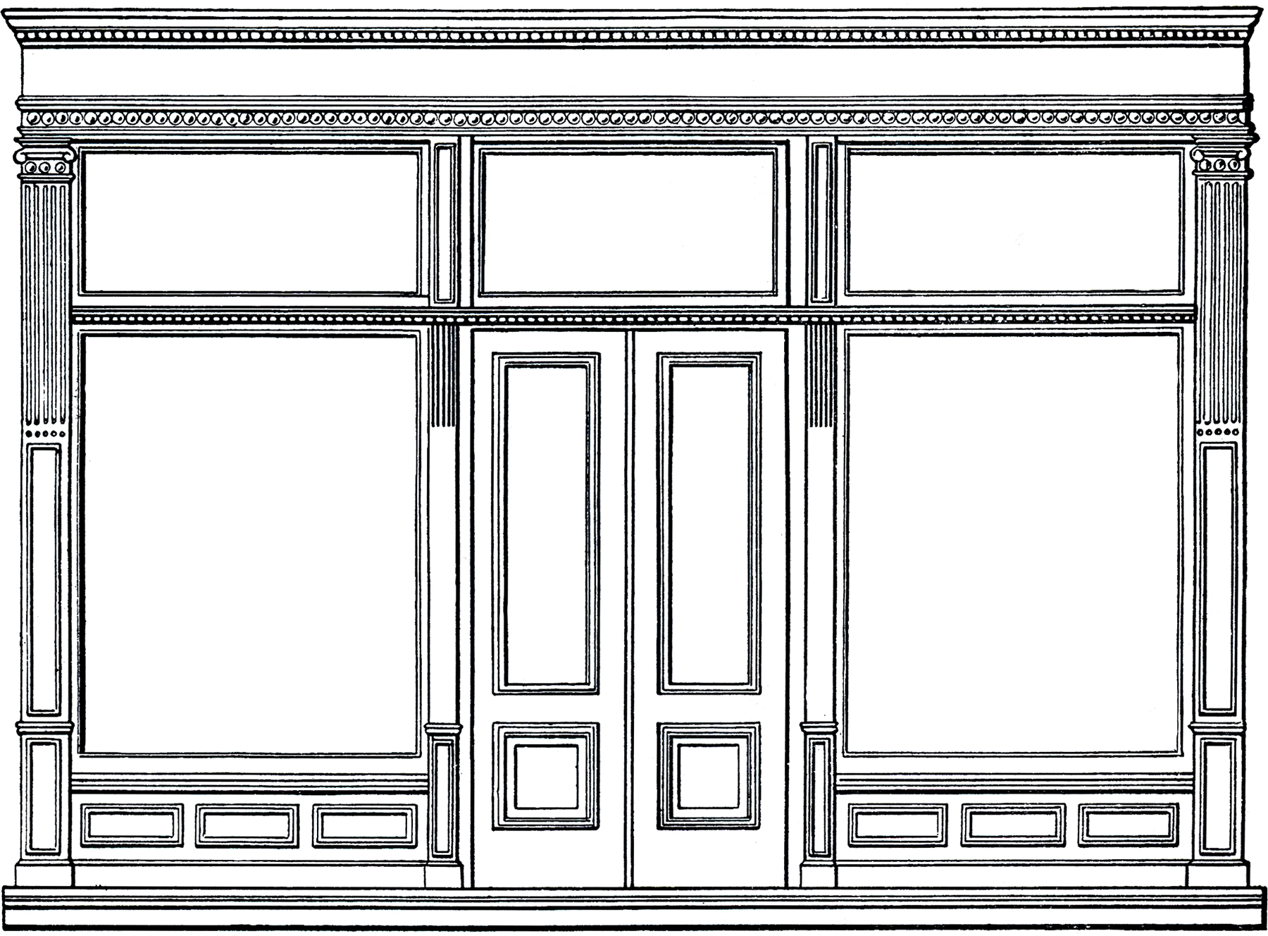 Front door clipart - Download Free Architecture Clip Art Store Front