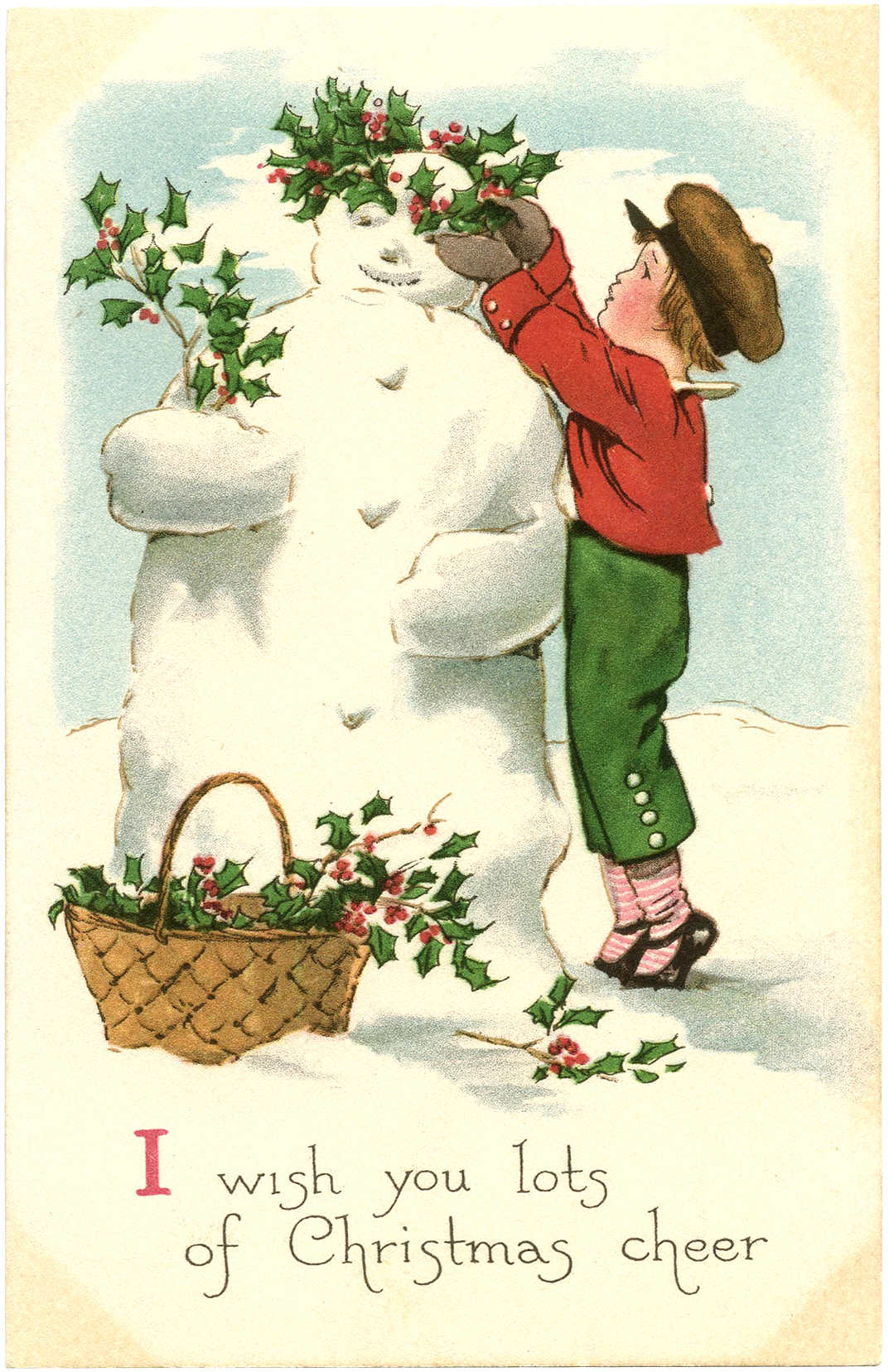 Gnome Animated Wallpaper Free Vintage Snowman Image The Graphics Fairy