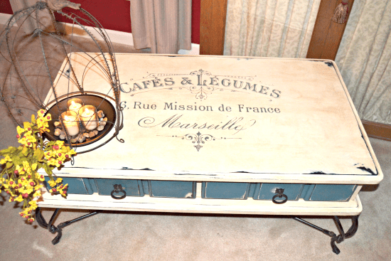 French Painted Coffee Table Reader Featured Project