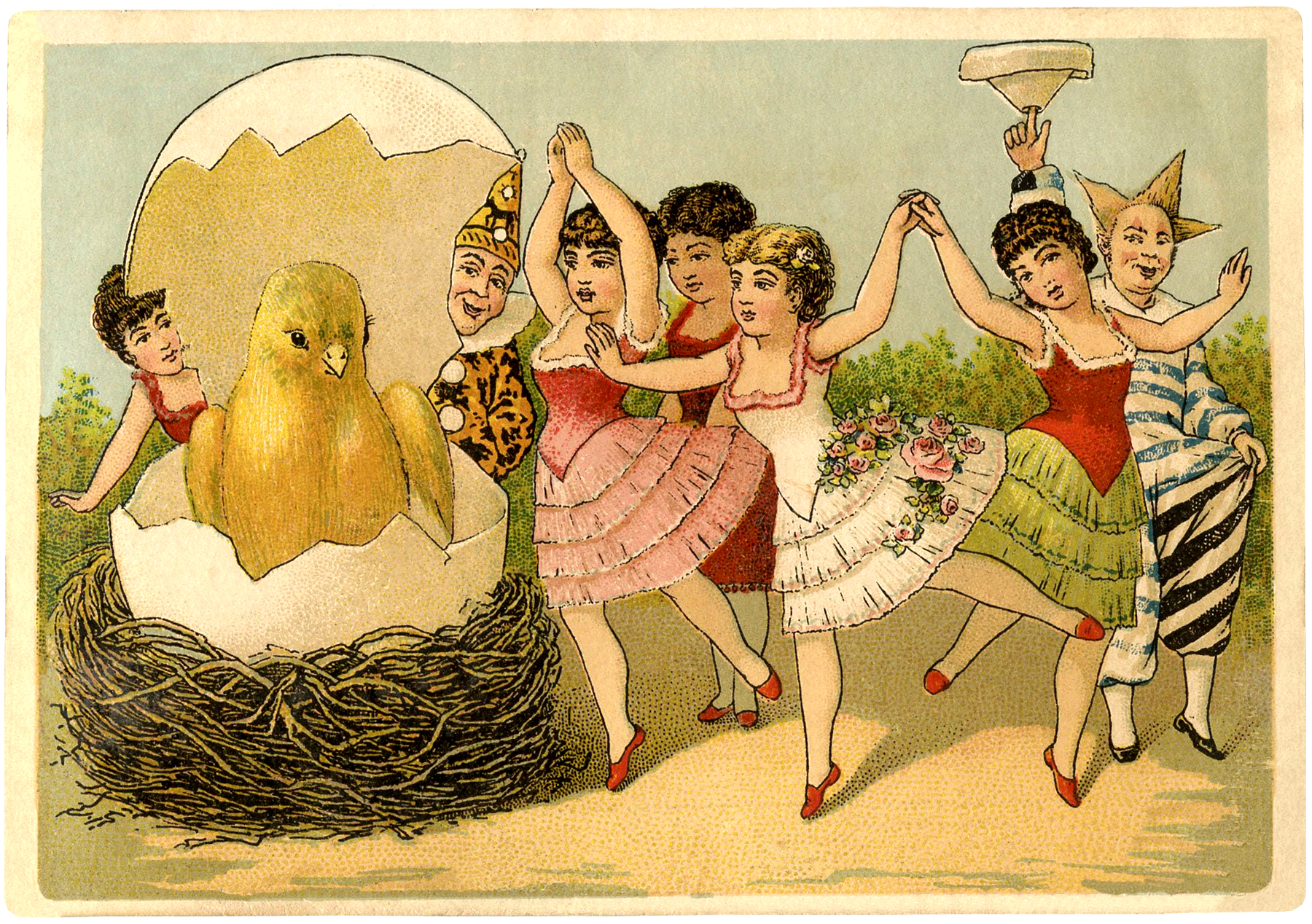Really Cute Thanksgiving Wallpaper Quirky Vintage Easter Card The Graphics Fairy