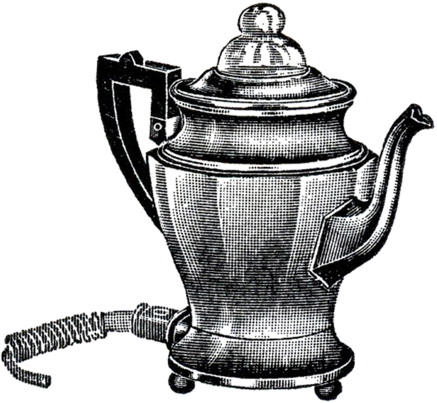 Free Clip Art Coffee Urn Retro Coffee Pot Image The Graphics Fairy