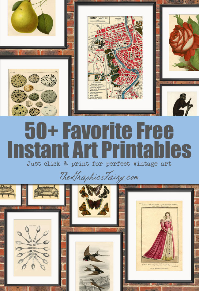 50 Free Wall Art Printables! - The Graphics Fairy