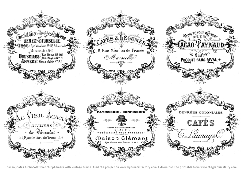 Shabby French Typography Labels + Project - Gorgeous! - The Graphics