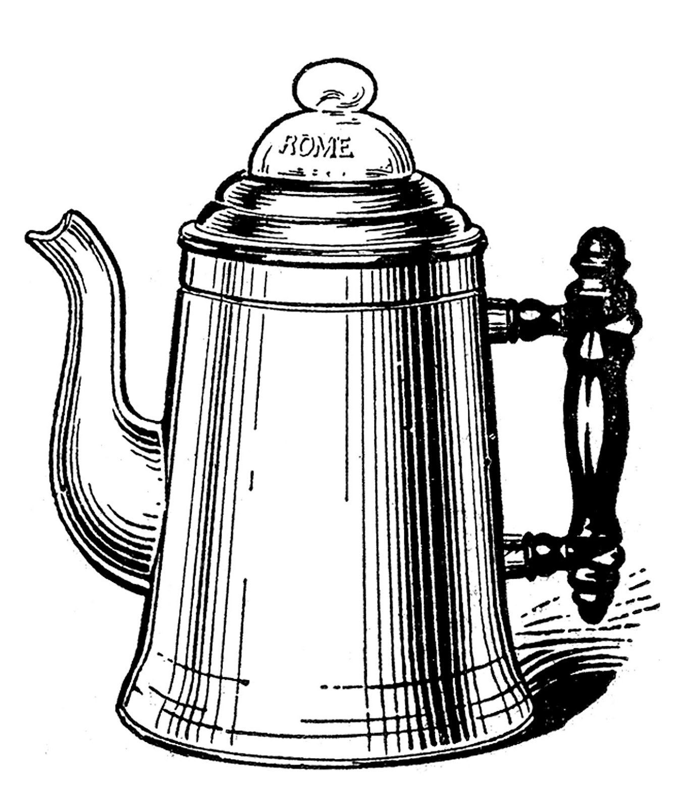 Free Clip Art Coffee Urn Vintage Kitchen Clip Art Tea Kettle And Coffee Pots