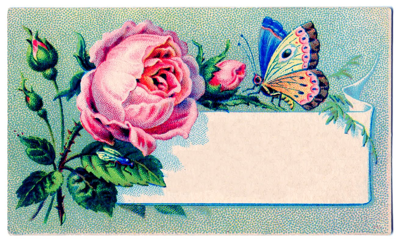 Birthday Wallpaper With Quotes Download Vintage Images Label Rose Amp Butterfly The Graphics Fairy