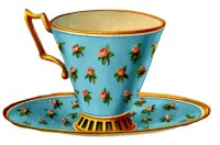 Vintage Graphics - 3 Pretty Teacups with Roses - The ...