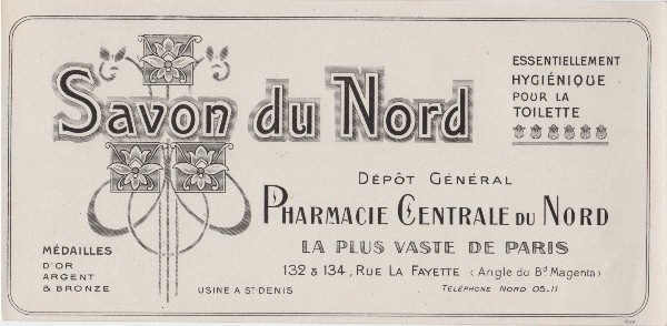 French Soap Label - The Graphics Fairy