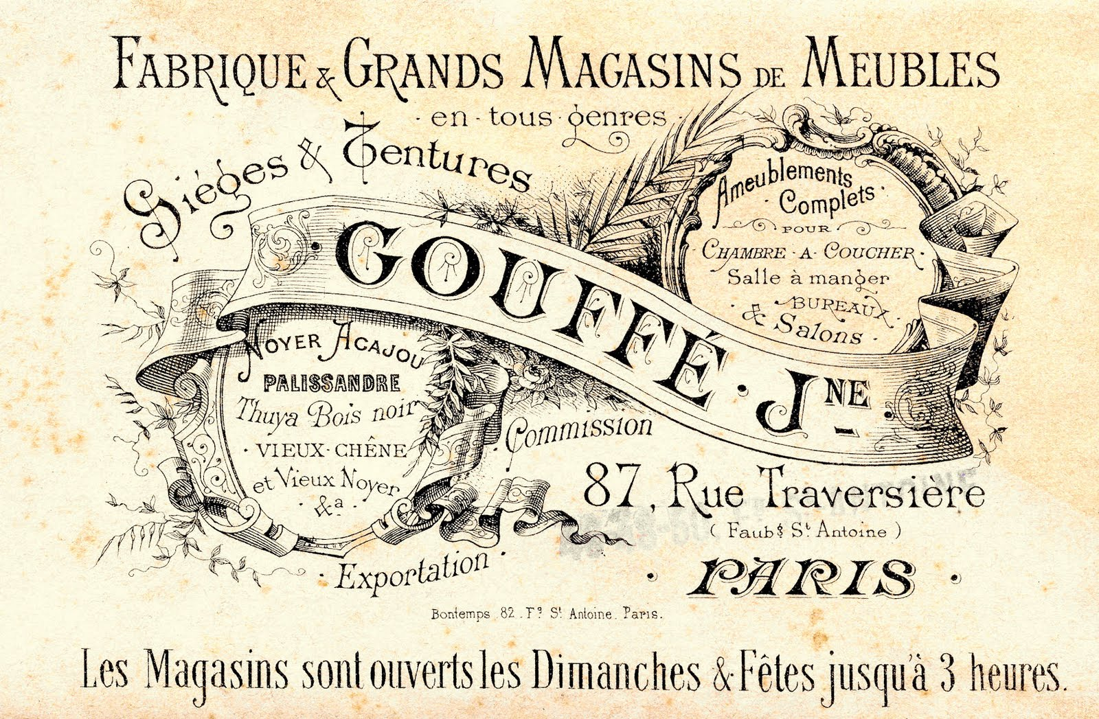Magasin Meuble Vintage Paris Free Vintage Clip Art Paris Advertising Ephemera The Graphics