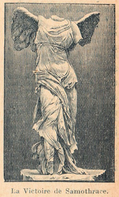 Black And White Victorian Wallpaper Winged Statue Samothrace The Graphics Fairy