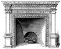 Vintage Clip Art - Fireplace Mantels - Christmas - The ...