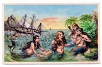 Vintage Mermaid Wallpaper