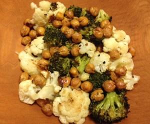 Green Diva Meg's Roasted Veggies, Chickpeas and Goddess Sauce