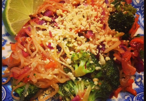 green diva meg's veggie pad thia noodles