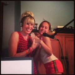 Cherie and Julie Corso in the Green Diva Studio