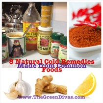 Green Divas 8 Natural Food Remedies Collage