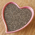 chia seeds in heart bowl