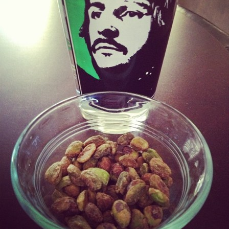 pistachios and ringo starr glass