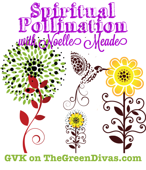 spiritual pollination image on the green divas