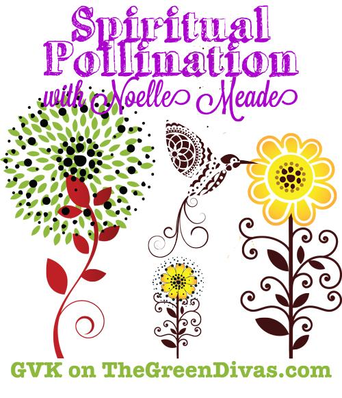spiritual pollination image on the green divas