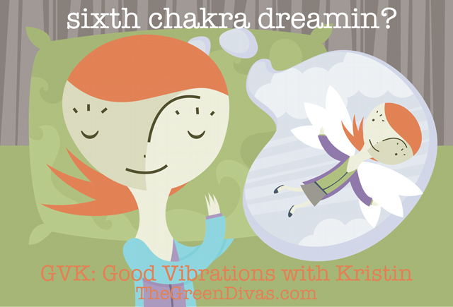 GVK 6th chakra dreaming image on the green divas