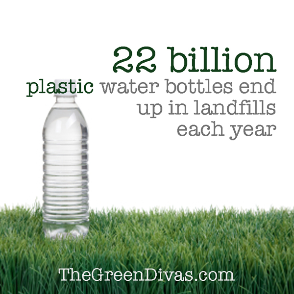 plastic water bottle fact image on the green divas