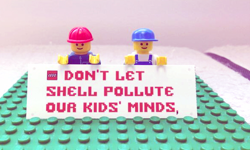 lego shell vs. greenpeace to save the arctic