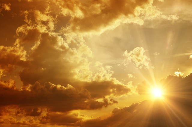 sun sky clouds divine light