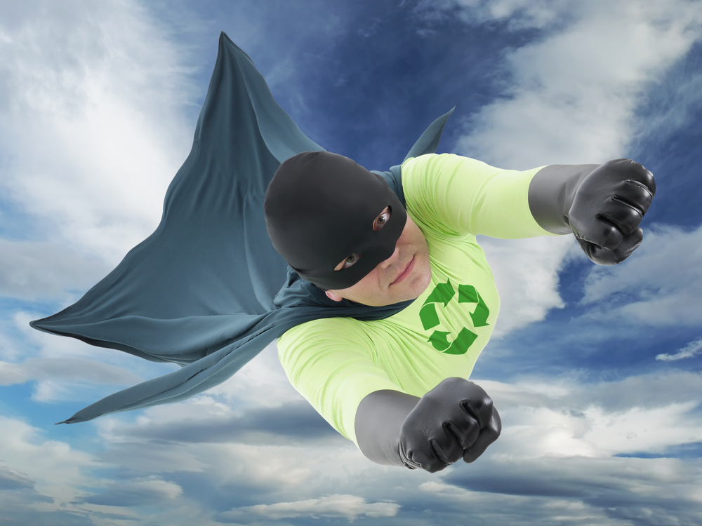 Green Superhero michael green