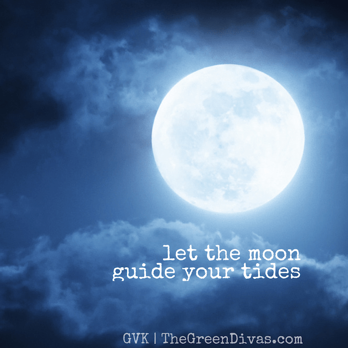 Let the moon guide your tides with this