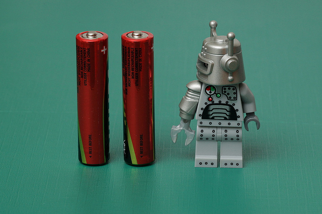 batteries robot