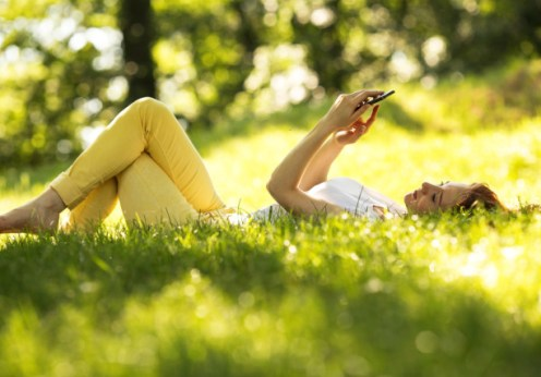 green apps to save the world woman in nature
