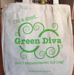 Green Divas tote bag