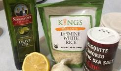 green diva meg's recipe for garlicky lemon rice