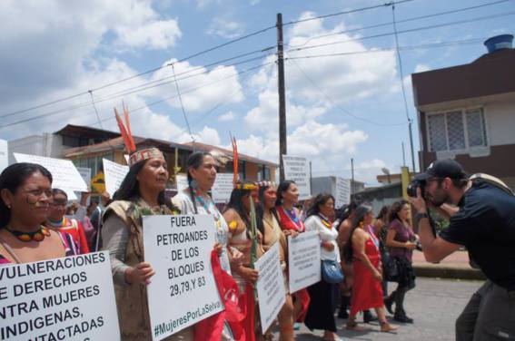 indigenous women marching for climate action