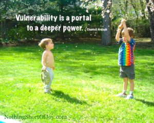 """Vulnerability is a portal to a deeper power."" Chameli Ardagh"