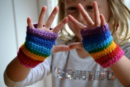 Crochet Fingerless Gloves Video