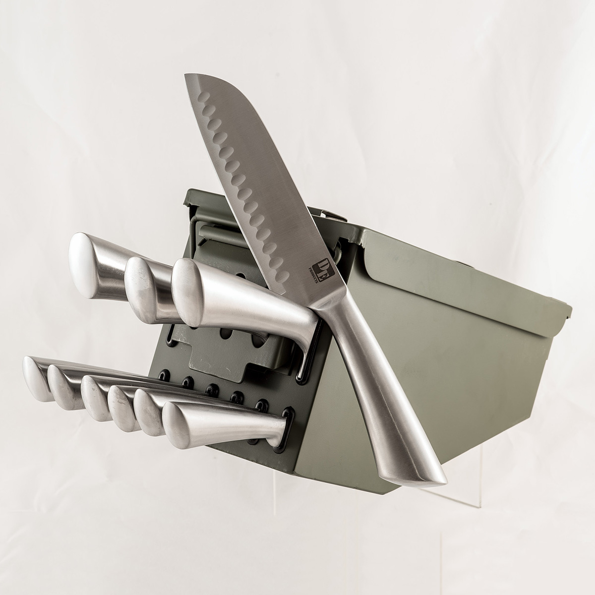 Cool Knife Block Sets Ammo Box Knife Block The Green Head