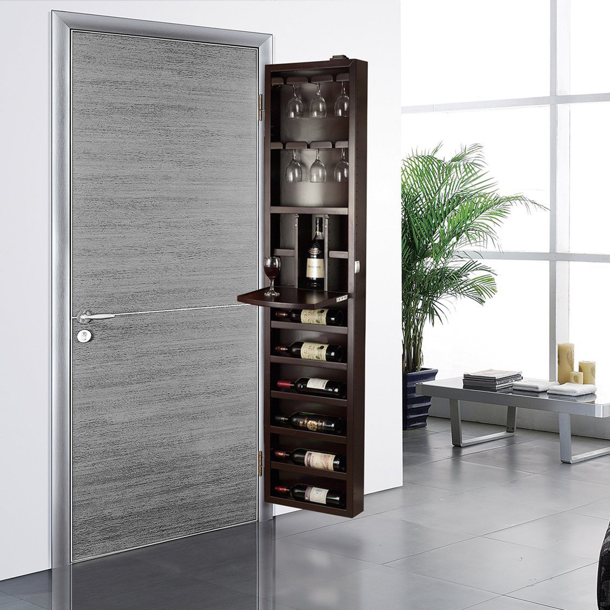 Small Wine Storage Cabinets Cabidor Behind The Door Wine Storage Cabinet The Green