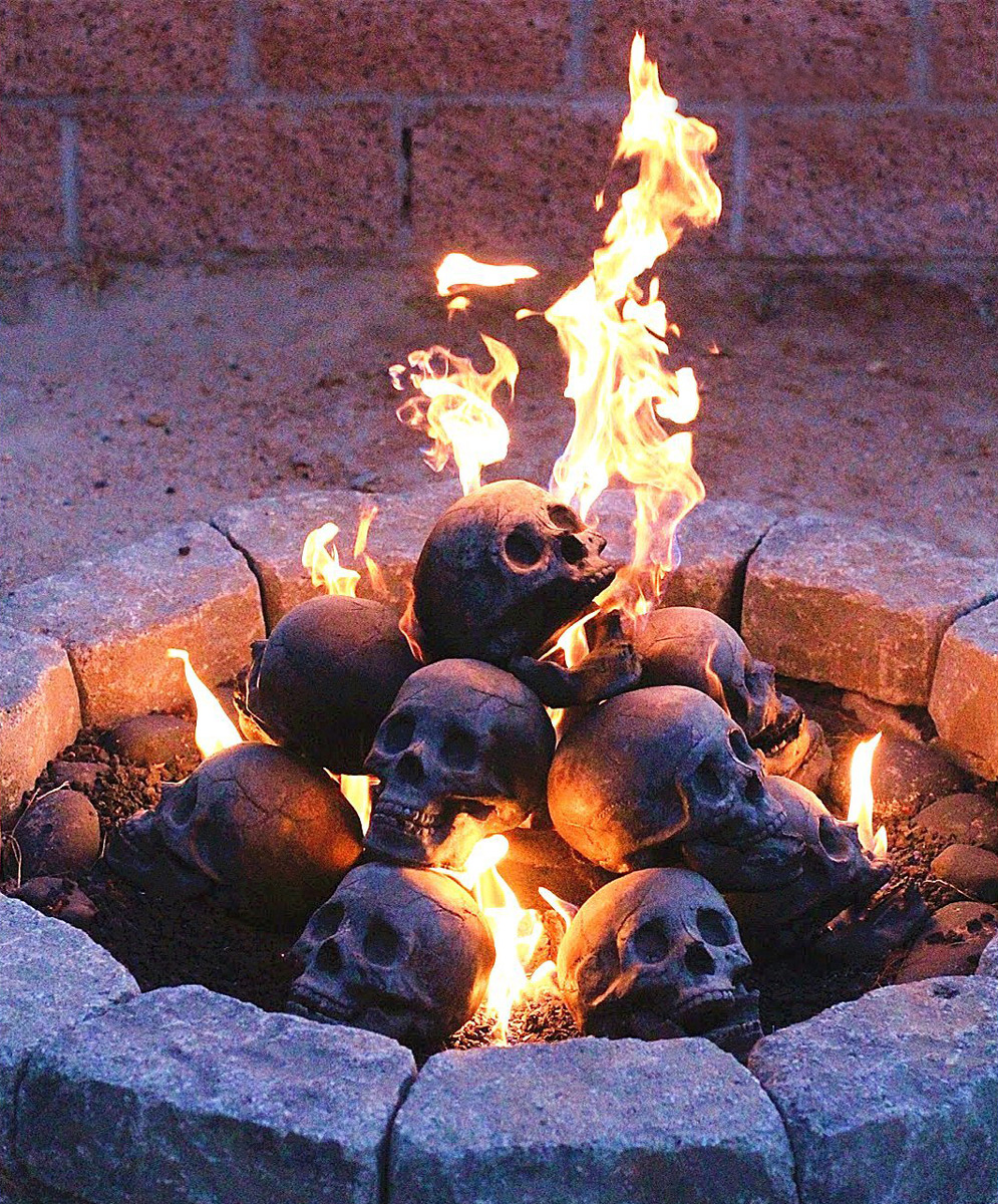 Gas Log Starters For Fireplace Fire Pit Skull Logs