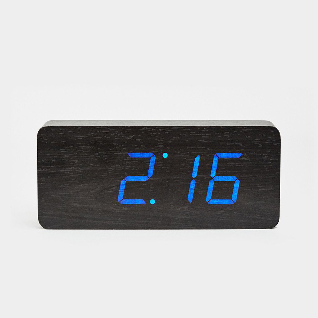 Small Led Alarm Clock Click Clock Small Walnut Led Alarm Clock Gadgets T