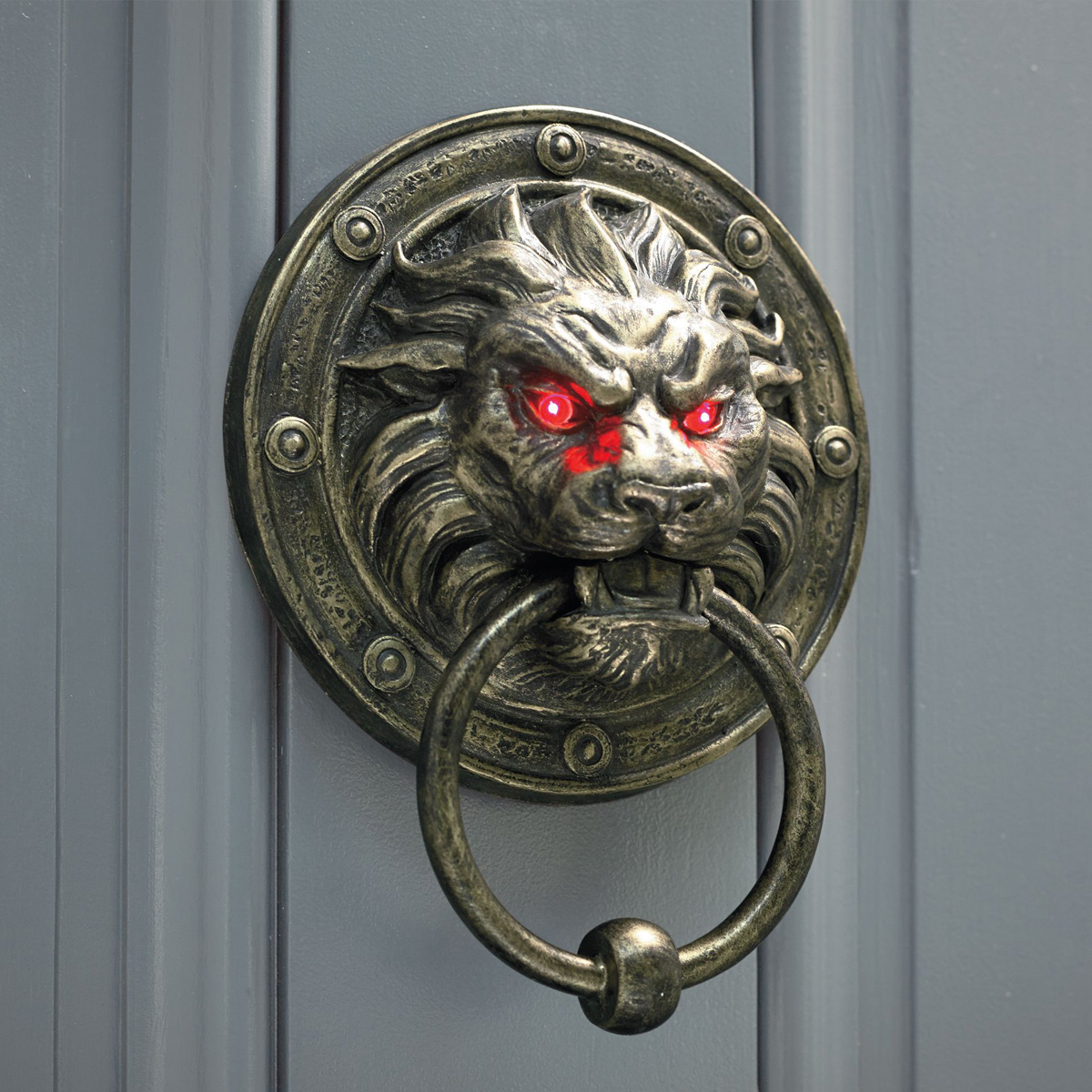 Door Nocker Creepy Lion Door Knocker With Glowing Eyes