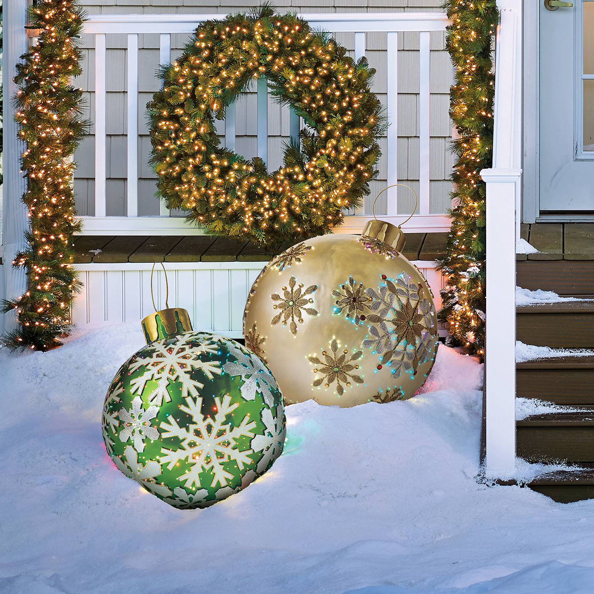 Outdoor Wall Christmas Decorations Massive Fiber Optic Led Outdoor Christmas Ornaments The