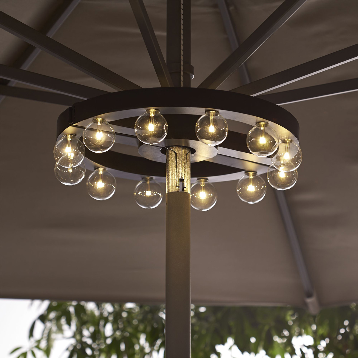 White Umbrella Marquees Patio Umbrella Marquee Lights