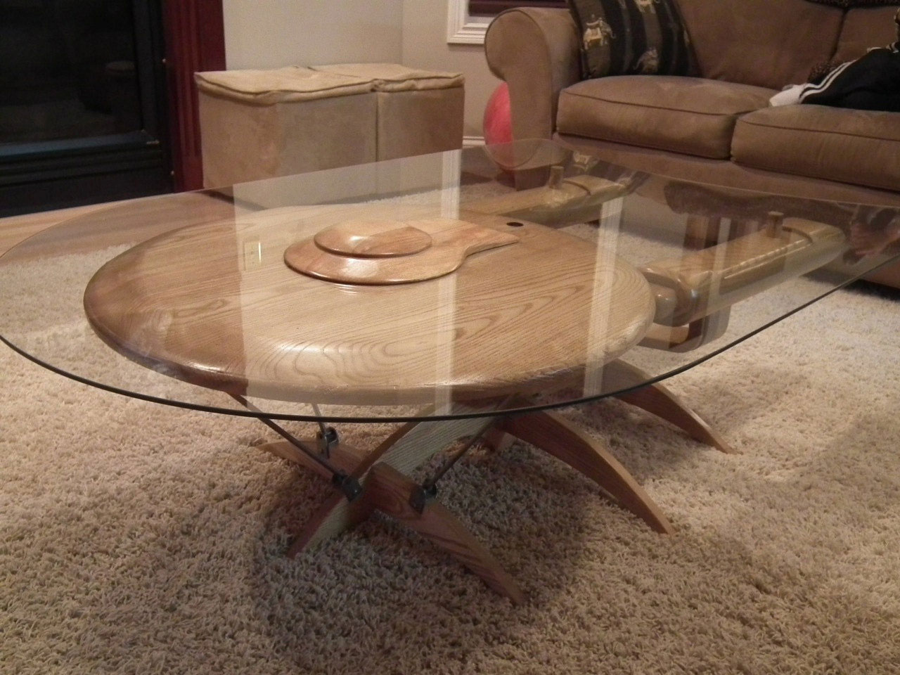 Geeky Coffee Tables Star Trek Uss Enterprise Ncc 1701 C Coffee Table The