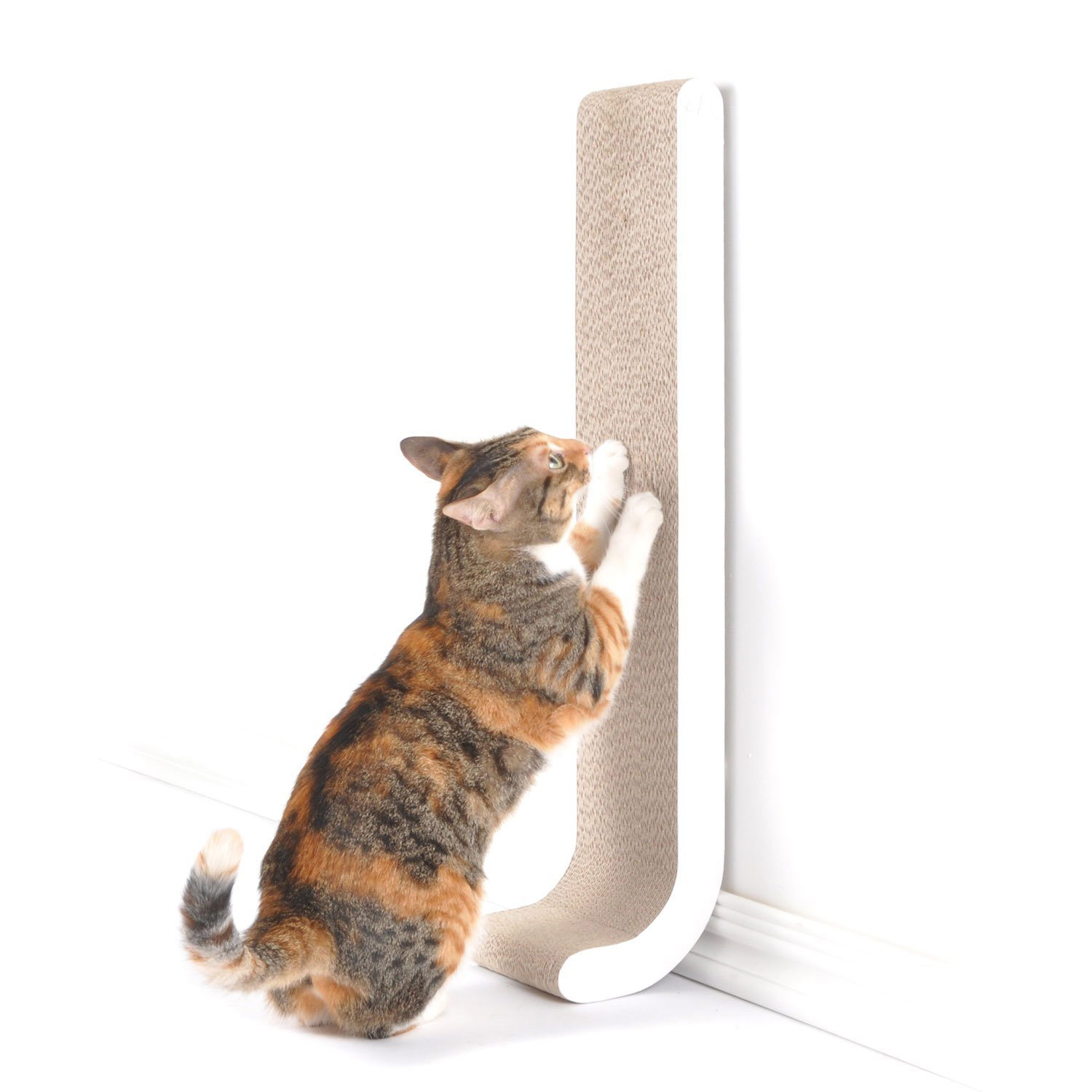 White Cat Scratching Post Wall Mounted Vertical Cat Scratching Post