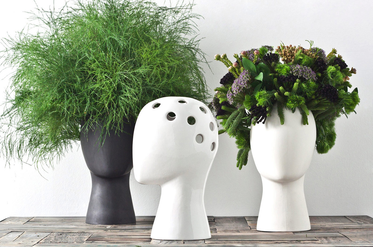 Planter Heads Wig Head Vase The Green Head