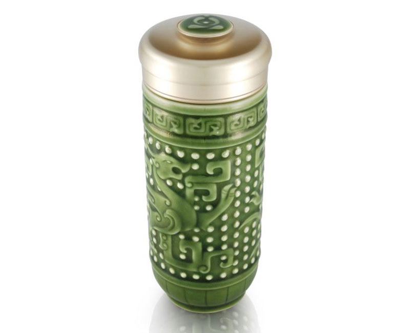 Mug Insect Dragon Double-walled Travel Tumbler For Tea
