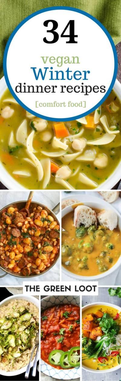 34 Cozy Vegan Winter Recipes for Dinner (Healthy Comfort Foods) | The Green Loot